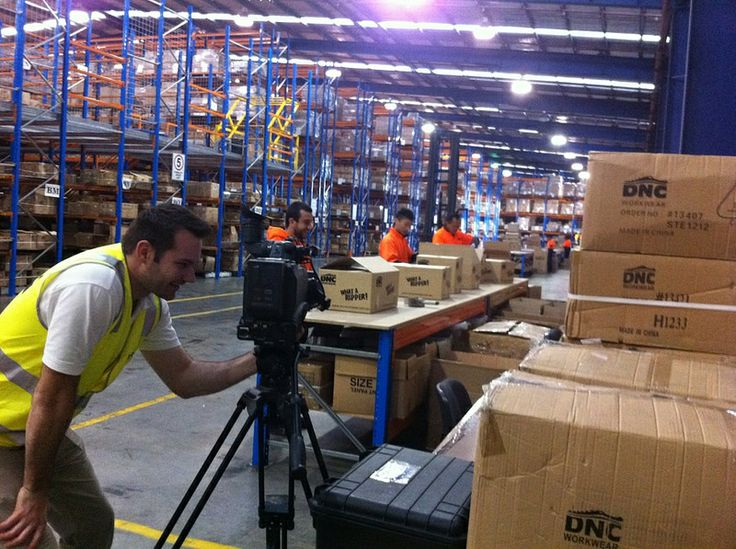 Corporate video shoot at DNC Workwear.