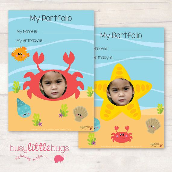 If you are a child educator, you will love our newly designed Sea Creatures child portfolio! Comes with 4 different covers!  Keep your