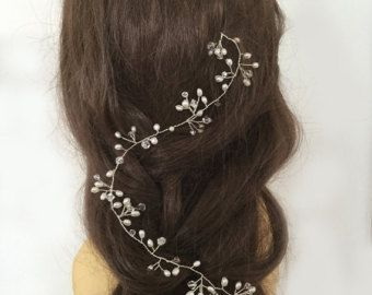 Extra largo torsión delicado pelo novia vid - pelo para arriba - boda Boho - 'Helecho'