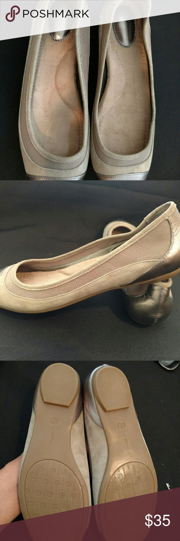 Final sale!!!!!Giani Bernini kat flat 1/4 platform 1'heel memory foam flats round closed toe .new no box , cleaning my closet Giani Bernini Shoes Flats & Loafers