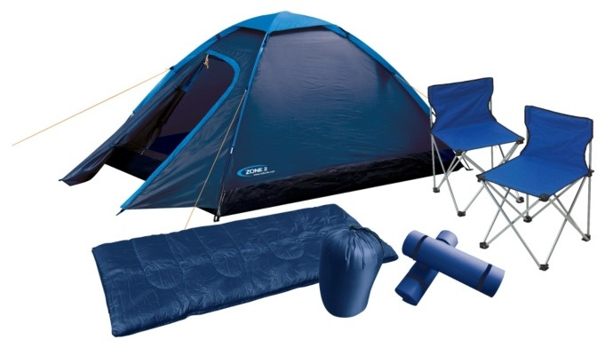 The Halfords Zone Festival 2 Man Tent Pack includes the essentials for festival goers to ensure a good nights sleep. With a tent, sleeping bags, sleeping mats and chairs you will feel safe in the knowledge that you have somewhere warm and dry to sleep.