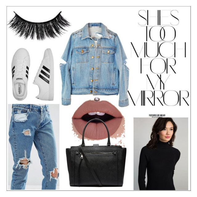 """autumn baddie #4"" by kiwijulin on Polyvore featuring ASOS, Rika, 525 America, adidas and Witchery"