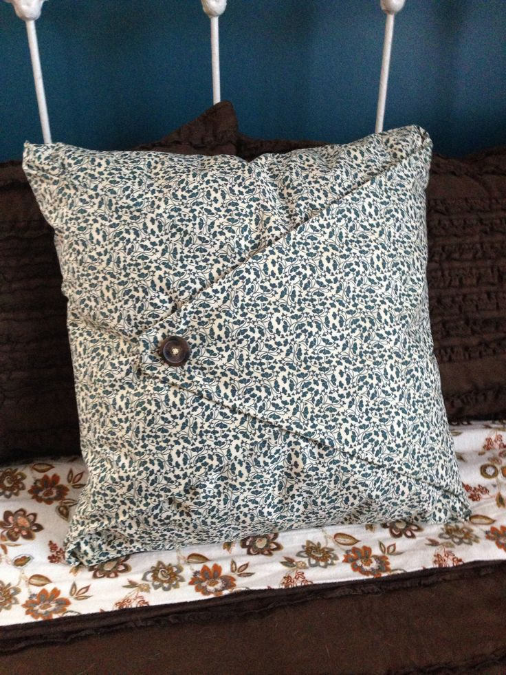 No-sew pillow cover & 17 Best images about No sew pillows on Pinterest | Drop cloth ... pillowsntoast.com