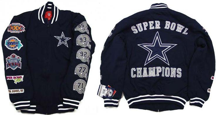 sneakers for cheap d4159 c9c9d Jersey Dallas Cowboys Leather Jacket Dallas Cowboys 2007 5x Super Bowl  Champion Fleece ...