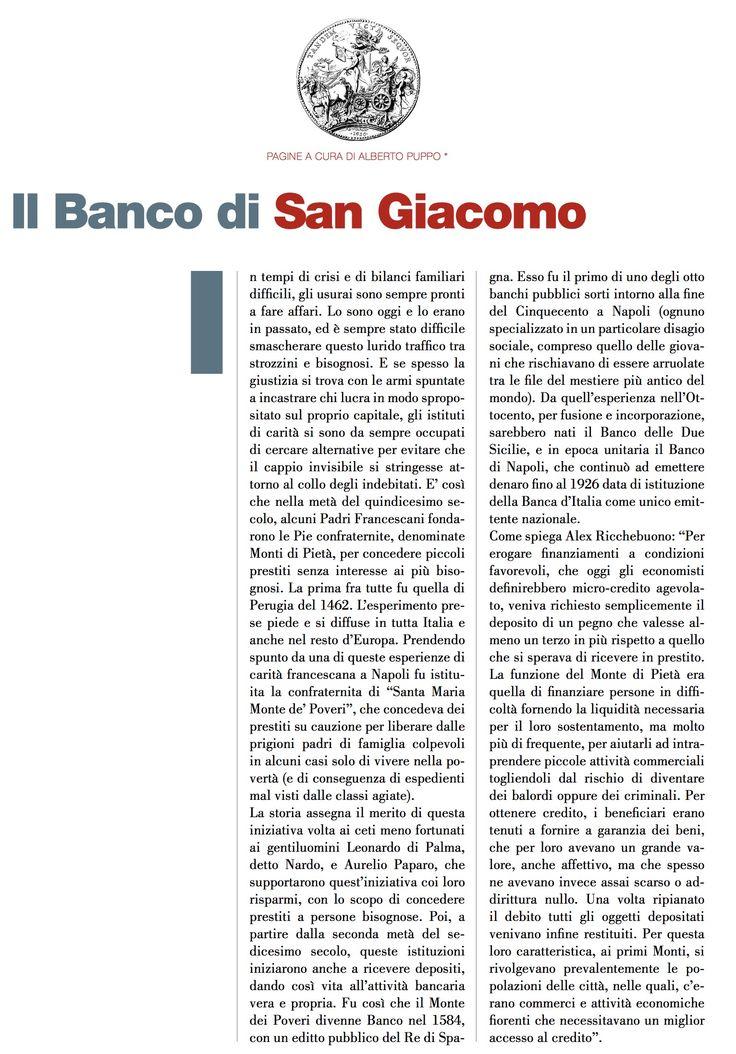 Il Banco di San Giacomo di Alberto PUPPO - #scripomarket #scripofilia #scripophily #finanza #finance #collezionismo #collectibles #arte #art #scripoart #scripoarte #borsa #stock #azioni #bonds #obbligazioni