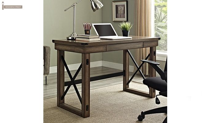 Victor Computer Table (Distressed Finish)-1