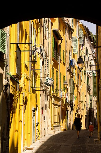 Menton, France. Yellow, like their famous lemons!