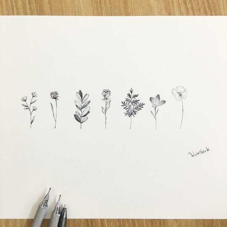 best  small flower tattoos ideas on   delicate flower, Beautiful flower