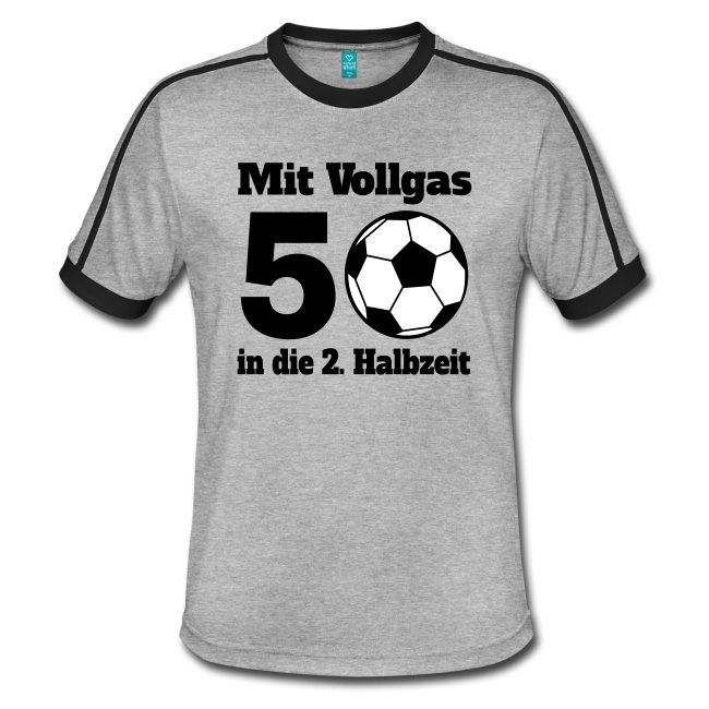 Das T-Shirt ist das perfekte Geschenk für Fußball-Fans, die ihren 50. Geburtstag feiern. Besonders zu Fußball-Ereignissen wie WM und EM das perfekte Outfit für 50-jährige Männer auf dem Platz, im Stadium, vorm Fernseher, beim Public Viewing oder auf der eigenen Geburtstagsfeier. Mit solch einem Geschenk macht man einem fußballbegeisterten Mann sicherlich eine große Freude.