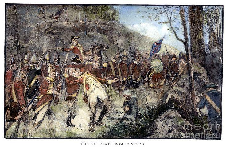 revolutionary war art prints | ... Of Concord, 1775 Photograph - Battle Of Concord, 1775 Fine Art Print