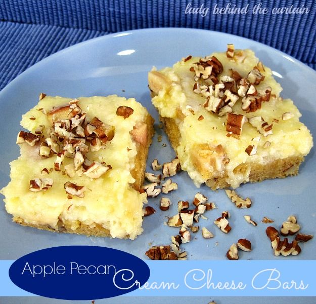 I love when a cake mix is a big part of a recipe! These apple pecan cream cheesebars totally remind of a cheese danish!