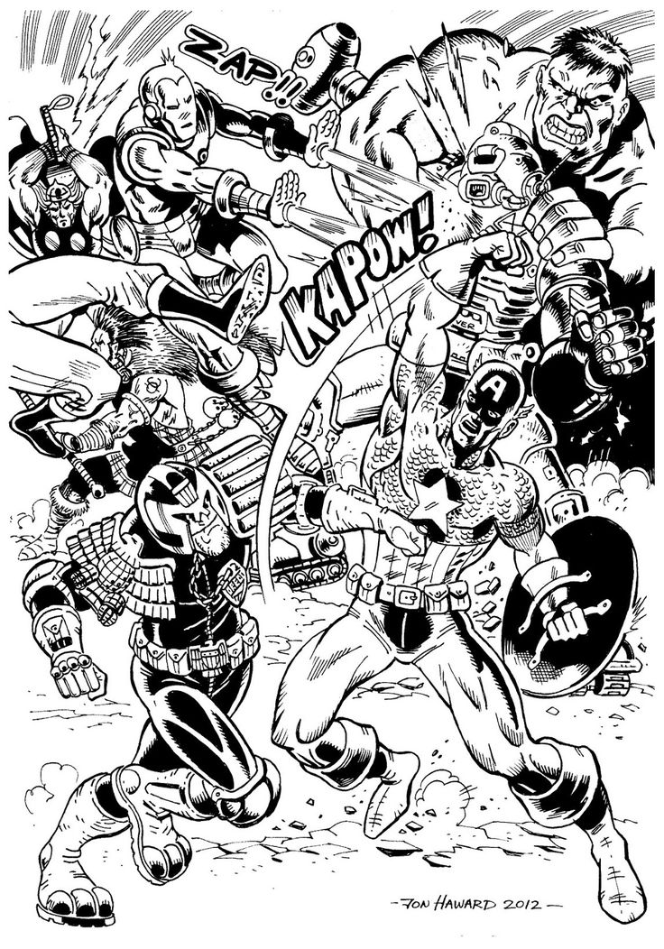 Marvel comics coloring pages printable ~ To print this free coloring page «coloring-adult-avengers ...