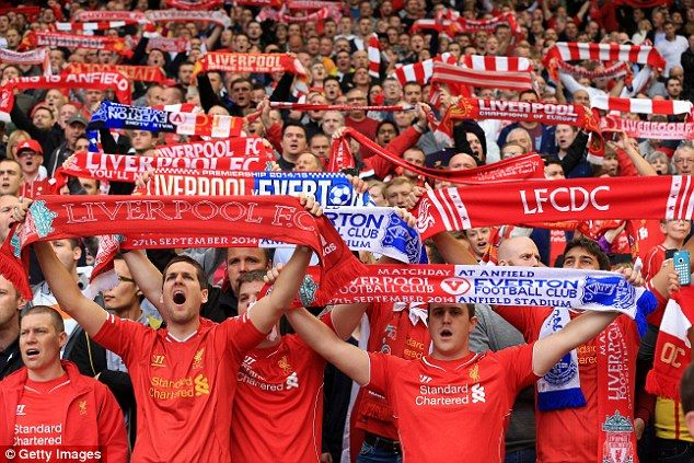 The Liverpool fans shows their support for the side during September's Merseyside derby ag...