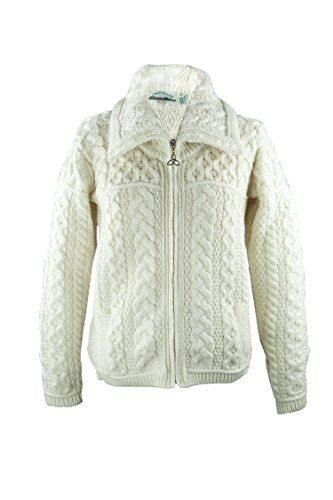 Product review for Irish Merino Wool Double Collar Zipper Aran Sweater.  This Ladies Irish Merino Double Collar Zipper Aran Sweater by Westend Knitwear is a must have for any wardrobe. The Irish aran sweater shows off an array of traditional aran stitches creating a beautifully designed garment. Promising outstanding quality, stunning design and great comfort and...