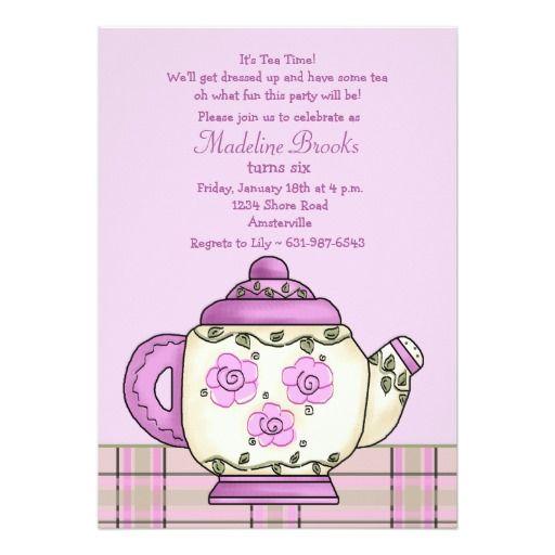 432 best Tea Party Birthday Invitations images – Tea Party Birthday Invitation Wording