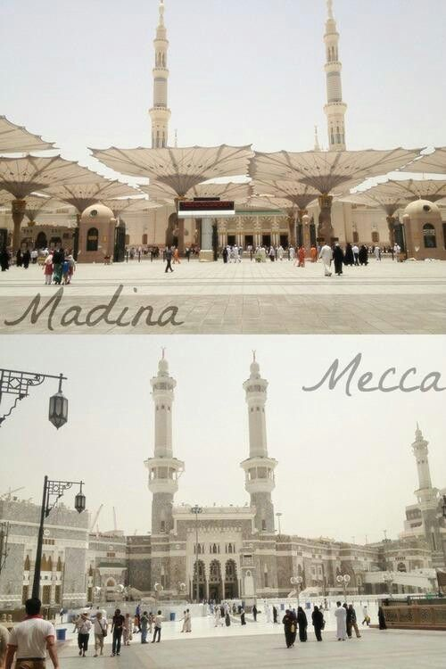 "Masjid al-Haraam @ Makkah al-Mukarramah Masjid al-Nabawi @ Madina al-Munawwarah ""Masjid of the Prophet Muhammad ﷺ"""