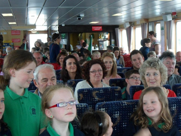 On board The Donegal Bay Waterbus. Fun for young and not so young with live entertainment on every trip