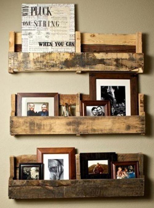Vergt iets meer knutsel werk, maar dan heb je de leukste wanddecoratie voor je fotolijstjes