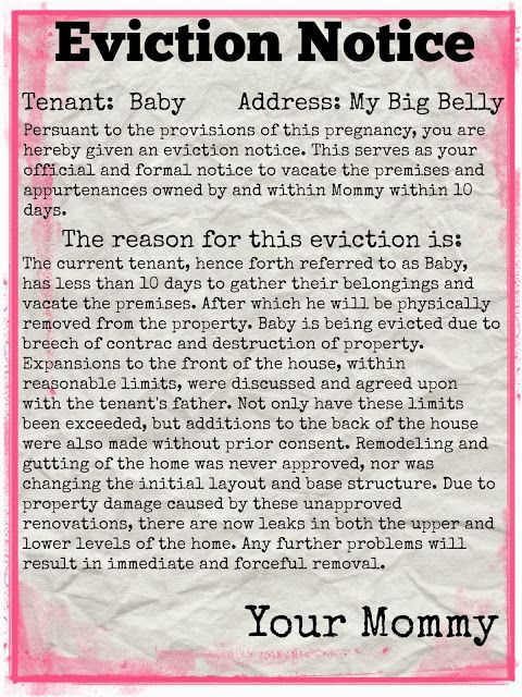 craftology babys eviction notice baby monster