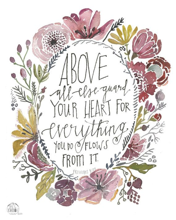 Guard your Heart Proverbs 4:23 8x10 PRINT  sale