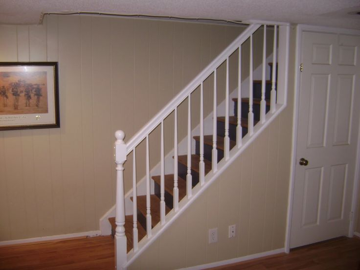 Basement stair railing ideas home ideas design for the - Ideas for basement stairs ...