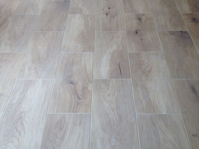 Floor: Timber Look Cushioned Edge Ceramic Tiles 600 x 300mm. Light Oak - Internal option - Brick Bond Pattern