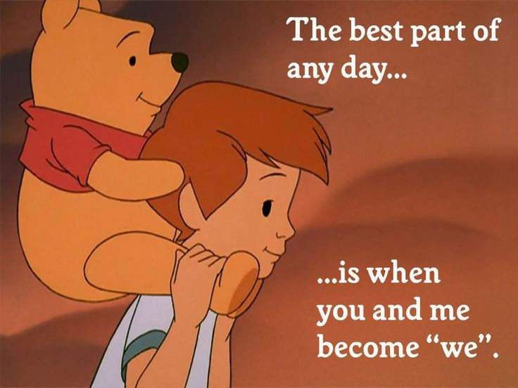 The Best Part Of Any Day... Winnie the Pooh and Christopher Robin