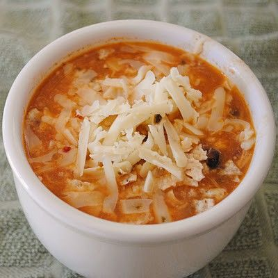 Chicken enchilada crock-pot soup for fall!