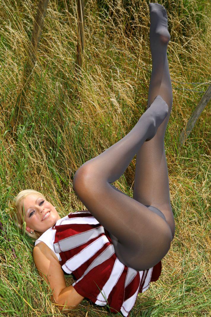 Brandy Pantyhose Cheerleader