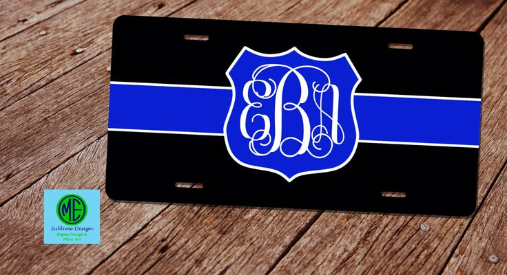 A personal favorite from my Etsy shop https://www.etsy.com/listing/386496070/custom-license-plate-frame-police-wife