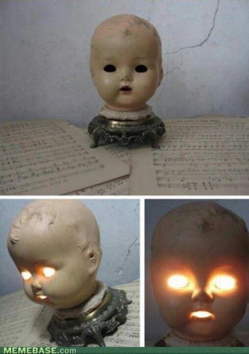 Indoor Halloween Decoration - Baby Head Lamp