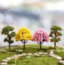 8 stks/partij kunstmatige boom miniatuur planten fairy garden gnome moss terrarium decor voor ambachten bonsai fles tuin(China (Mainland))