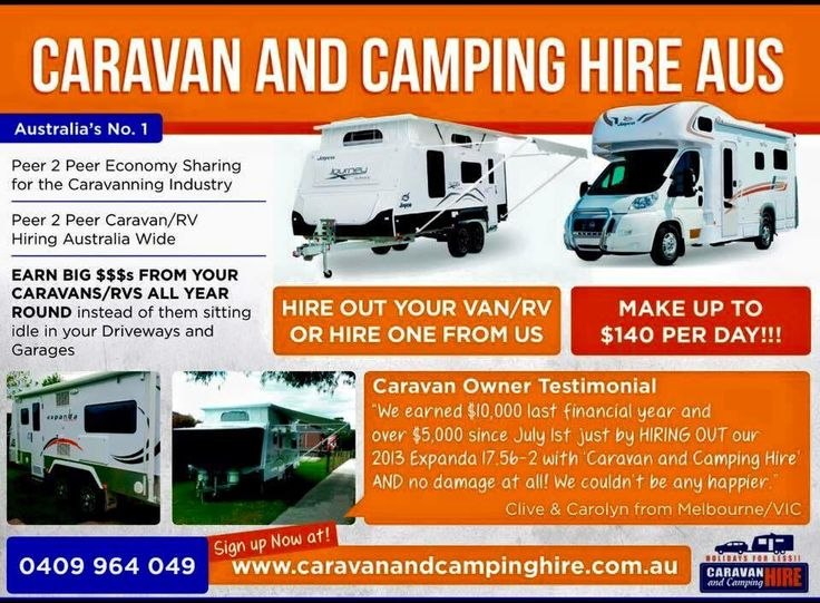 Earn $1000s from your Caravan/Camper/RV by hiring it out with Caravan and Camping Hire AUS. #caravanhire #privatecaravanhire