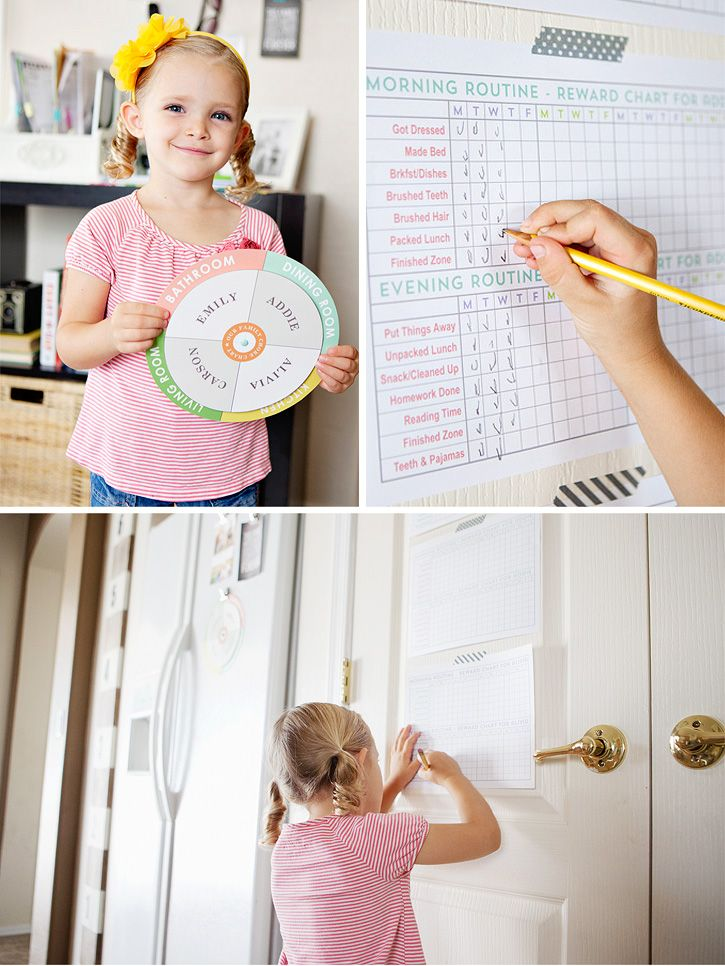 FREE printable chore charts and daily checklists.