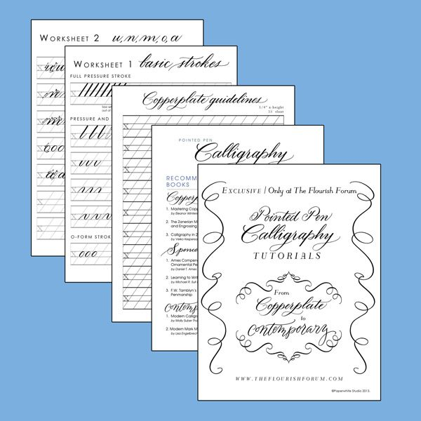 Lesson 1: Pointed Pen Calligraphy from Copperplate to Contemporary
