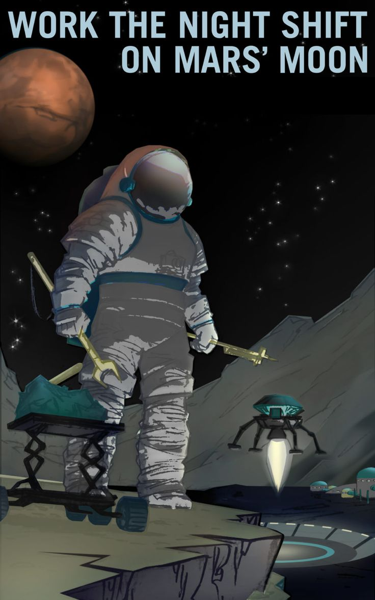 NASAがケネディ宇宙センターのヴィジターセンターに飾っていたポスターシリーズ「火星の求人広告」が、誰でも自由にダウンロードできるようなった。ギャラリーで紹介。