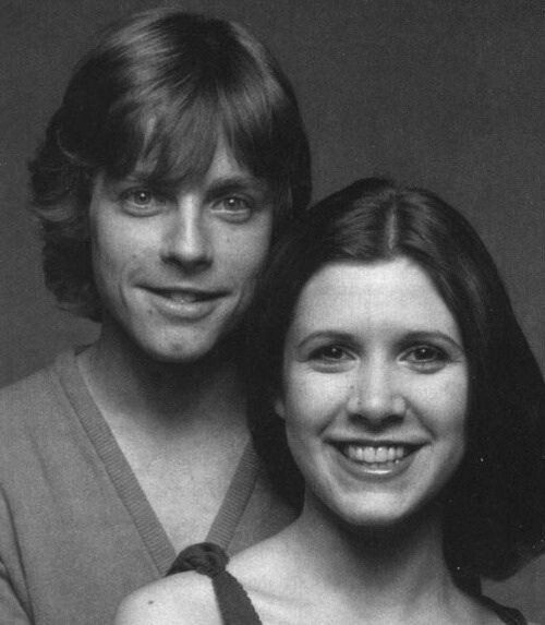 Mark Hamill & Carrie Fisher ~1977 photoshoot