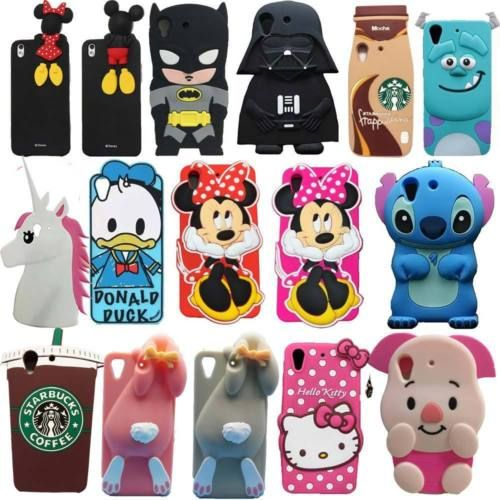 3D-Cute-Cartoon-Soft-Silicone-Back-Rubber-Cover-Case-For-HTC-Desire-626-620-M7