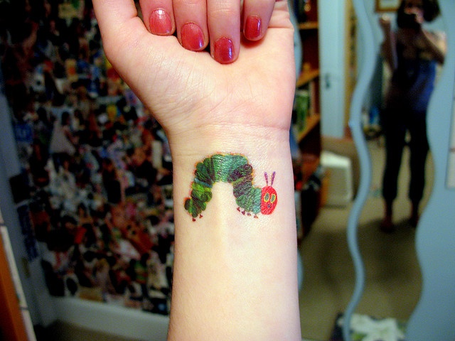 Hungry Hungry Caterpillar tattoo, I want one!