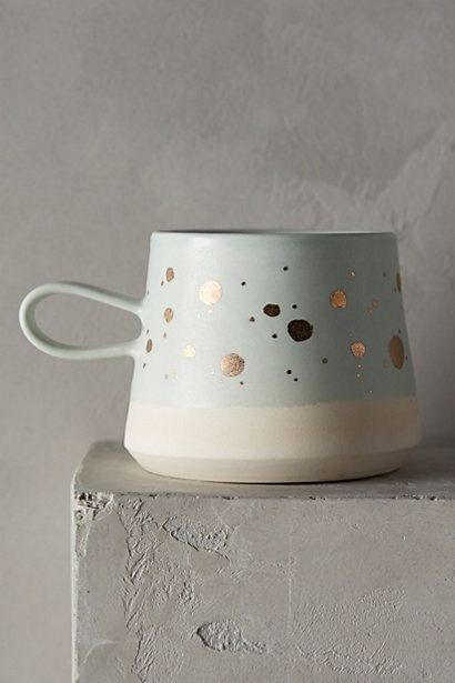 gold flecked mug