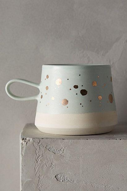Gold-Flecked Mug #anthropologie