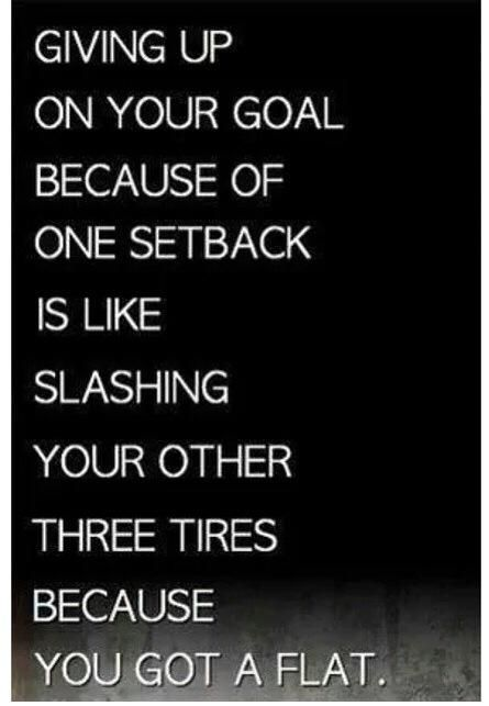If you have a set back, acknowledge it, then pick yourself up and keep charging forward! Most people fail because they stay stuck there... Don't stay stuck, make it your goal to be better! That is what being successful is about. #motivation #inspiration #positive #dontquit #keepgoing #postivequotes #patience #iLiveFit #LiveFit #JoinTheFitRevolution