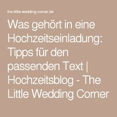 Was gehört in eine Hochzeitseinladung: Tipps für den passenden Text | Hochzeitsblog - The Little Wedding Corner