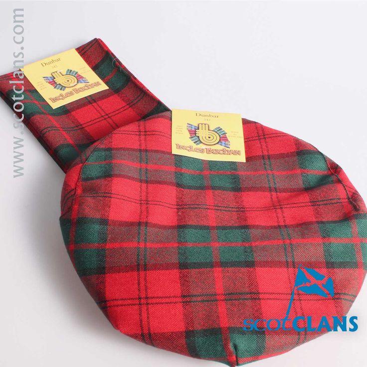 Dunbar Modern Tartan Cap and Scarf Set