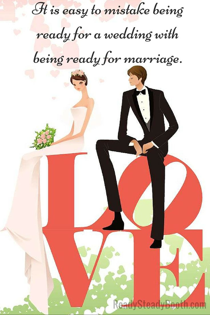 Ready for marriage or ready for wedding?  Be honest. #Melbourne #photobooth #Australia #wedding #giveaway