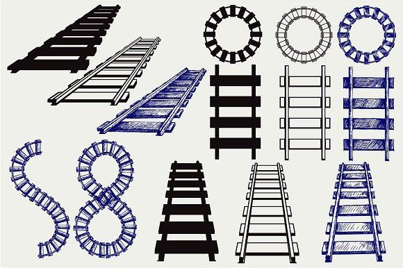 Track Railway Vector Png Transparent Clipart Image And Psd File For Free Download Clip Art Transparent Png