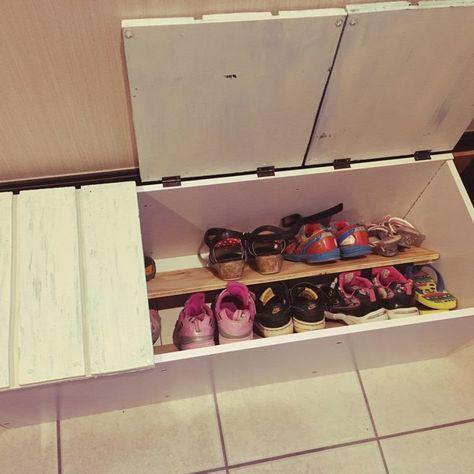 収納付きベンチを簡単DIY☆カラーボックスを楽々リメイク!   folk