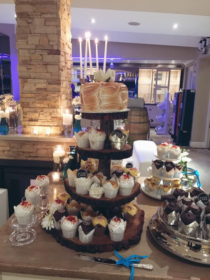 Toasted Carrot Cake with a variety of cupcakes.