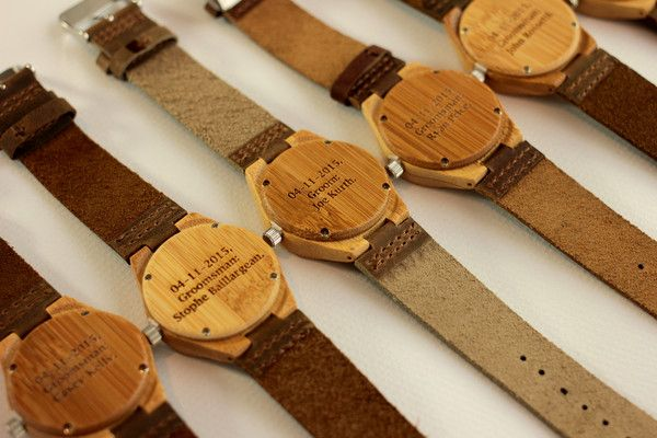 Unique Groomsmens Gifts - Engraved Wooden watches