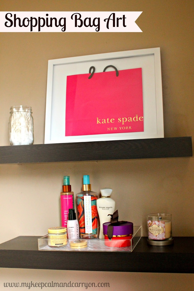 Shopping Bag Art {frame your cutest shopping bag!}